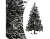 vidaXL Kunstkerstboom met sneeuwvlokken 210 cm PVC en PE groen