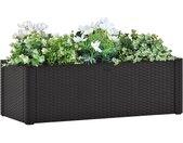 vidaXL Plantenbak hoog zelfbewateringssysteem 100x43x33 cm antraciet