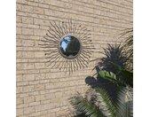 vidaXL Tuin wandspiegel sunburst 60 cm zwart