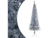 vidaXL Kerstboom smal 210 cm zilverkleurig