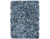 vidaXL Tapijt shaggy hoogpolig 160x230 cm denim blauw