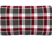 vidaXL Bankkussen pallet ruitpatroon 70x40x12 cm rood