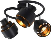 vidaXL Spotlight drievoudig E14 zwart
