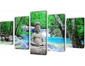 vidaXL Canvasdoeken Boeddha 100 x 50 cm