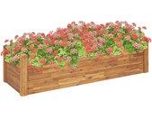 vidaXL Plantenbak verhoogd 160x60x44 cm massief acaciahout