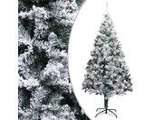 vidaXL Kunstkerstboom met sneeuwvlokken 300 cm PVC groen