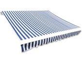 vidaXL Luifeldoek 450x300 cm canvas blauw en wit