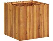 vidaXL Plantenbak verhoogd 50x50x50 cm massief acaciahout