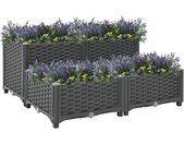 vidaXL Plantenbak verhoogd 80x80x38 cm polypropyleen