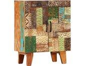 vidaXL Dressoir handgesneden 60x30x75 cm massief gerecycled hout