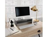 vidaXL Monitorstandaard 42x24x13 cm spaanplaat hoogglans grijs