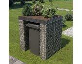 vidaXL Schanskorfmuur container 110x100x130 cm gegalvaniseerd staal