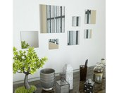 vidaXL Wandspiegels vierkant glas 7 st