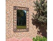 vidaXL Tuin wandspiegel rechthoekig 50x80 cm zwart