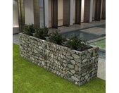 vidaXL Gabion plantenbak verhoogd 360x90x100 cm staal