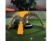 vidaXL Partytent met LED en 4 zijwanden 3,6x3,6x2,3 m geel