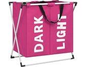 vidaXL Wassorteerder met 2 zakken roze