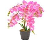 vidaXL Kunstplant met pot orchidee 60 cm roze