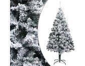 vidaXL Kunstkerstboom met sneeuw 180 cm PVC groen