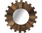 vidaXL Wandspiegel 50 cm massief gerecycled hout