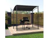 vidaXL Barbecue paviljoen 215x150x220 cm staal antraciet