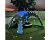 vidaXL Partytent met LED en 4 zijwanden 3,6x3,6x2,3 m blauw