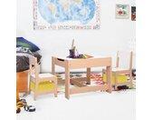 vidaXL Kindertafel met 2 stoelen MDF