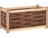 vidaXL Plantenbak verhoogd 80x40x40 cm massief grenenhout