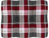 vidaXL Bankkussen pallet ruitpatroon 50x40x12 cm rood