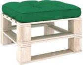 vidaXL Bankkussen pallet 58x58x10 cm groen