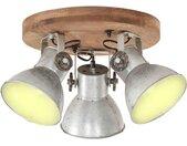 vidaXL Plafondlamp industrieel 25 W E27 42x27 cm zilverkleurig
