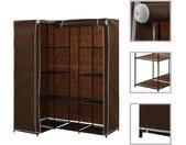 vidaXL Hoekkledingkast 130x87x169 cm bruin