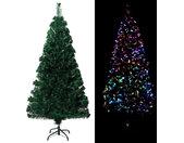 vidaXL Kunstkerstboom met standaard 120 cm optische vezel groen