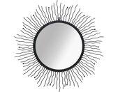 vidaXL Wandspiegel sunburst 80 cm zwart