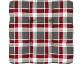 vidaXL Bankkussen pallet ruitpatroon 80x80x12 cm rood