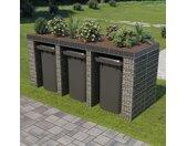 vidaXL Schanskorfmuur container 270x100x130 cm gegalvaniseerd staal