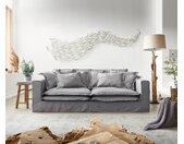 Hoezenbank Noelia 240x140 cm grijs met Kussen Bigsofa