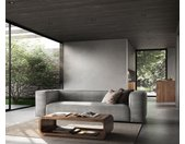 Big-sofa Around the Block 260x105 zilvergrijs Federkern by W. Schillig