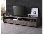 TV-meubel Live-Edge 190 cm acacia platinum 4 laden 2 vakken