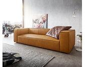 Big-sofa Around the Block 260x105 geel echt leder vederkern by W. Schillig