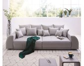 XXl-bank Violetta grijs 310x135 cm gewatteerd met 12 kussens