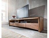 TV-meubel Live-Edge 230 cm acacia massief bruin 4 lades