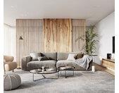 Big-Sofa Feres 290 x 130 fluweel zilvergrijs