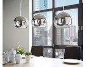 Plafondlamp Pentola 75 cm chroom zilverkleurig metaal