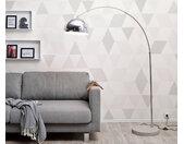 Big-Deal Eco zilver booglamp betonnen voet in hoogte verstelbaar