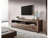 Tv-meubel Indra 200 cm acacia bruin 3 laden 1 compartiment