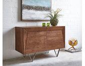 Dressoir Wyatt 115x45 cm acacia bruin roestvrijstaal
