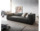 Big-sofa Around the Block 260x105 antraciet echt leder vederkern by W. Schillig