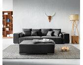 XXL-bank Marbeya 285x115 cm zwart met hocker big-sofa
